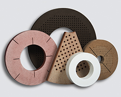 Nut inserted grinding wheel discs